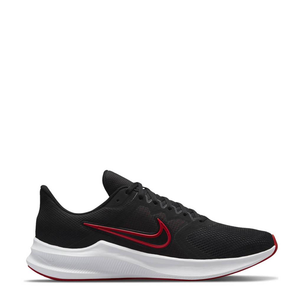 Nike Downshifter 11 hardloopschoenen zwart/rood/wit, Zwart/rood/wit