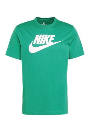 sport T-shirt neon groen/wit
