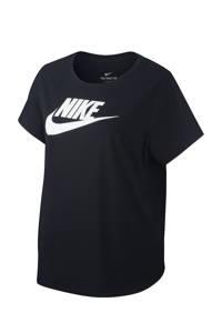 Nike Plus Size sport T-shirt zwart, Zwart