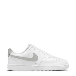 Court Vision Low  leren sneakers wit/zilver
