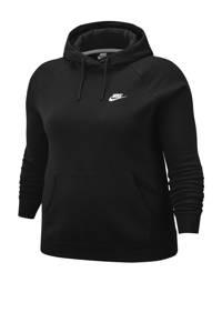 Nike Plus Size sportsweater zwart, Zwart