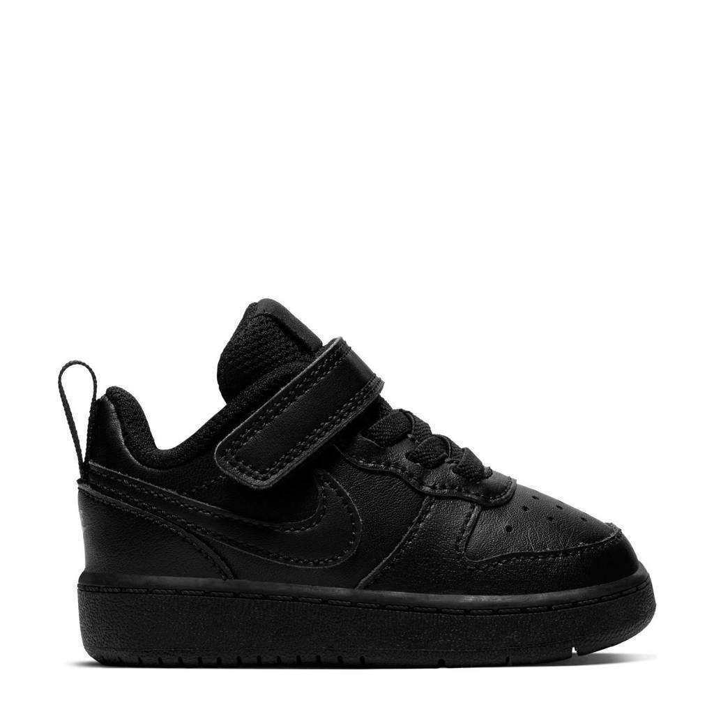Nike Court Borough Low 2 sneakers zwart, Zwart