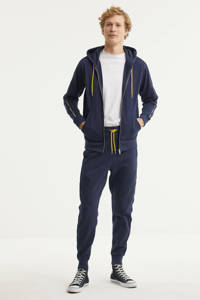 Diesel vest Brandon met contrastbies donkerblauw, Donkerblauw