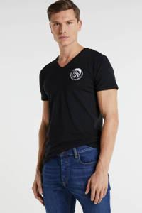 Diesel T-shirt (set van 3) wit/zwart/donkerblauw, Wit/zwart/donkerblauw