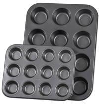 Sareva muffinvorm (set van 2), Zwart