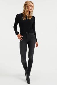 WE Fashion Blue Ridge high waist super skinny jeans donkergrijs, Donkergrijs