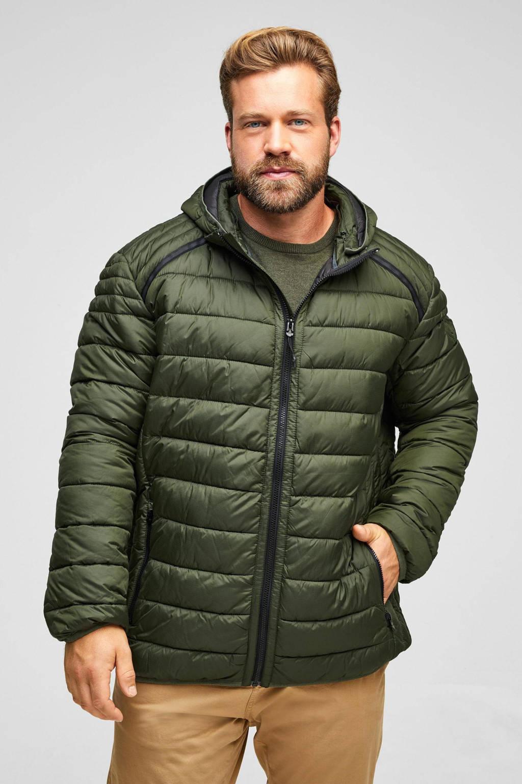 s.Oliver Big Size  jas Plus Size donkergroen, Donkergroen