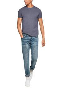 Q/S designed by gemêleerd slim fit T-shirt donkerblauw, Donkerblauw