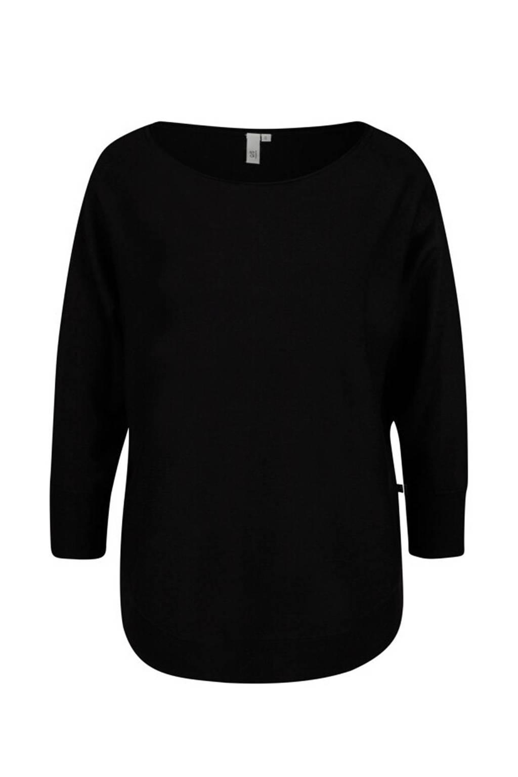 Q/S designed by loose fit trui zwart, Zwart