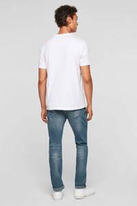 Q/S designed by regular fit T-shirt met tekst wit, Wit