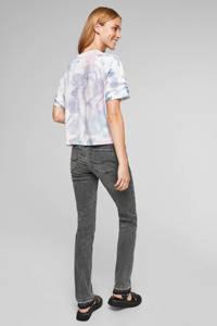 Q/S designed by tie-dye cropped T-shirt wit/lichtblauw/lila, Wit/lichtblauw/lila
