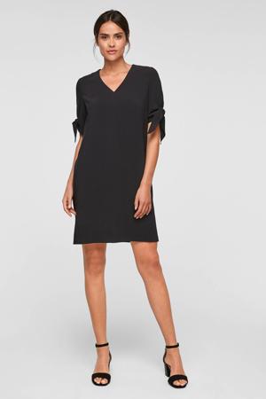korte jurk met stretch zwart