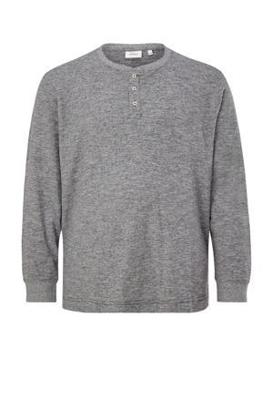 gemêleerde regular fit longsleeve Plus Size marine/grijs