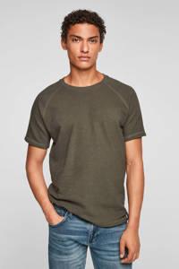 Q/S designed by T-shirt kaki, Kaki