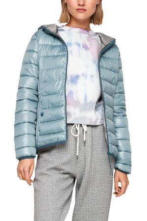 gewatteerde jas lichtblauw