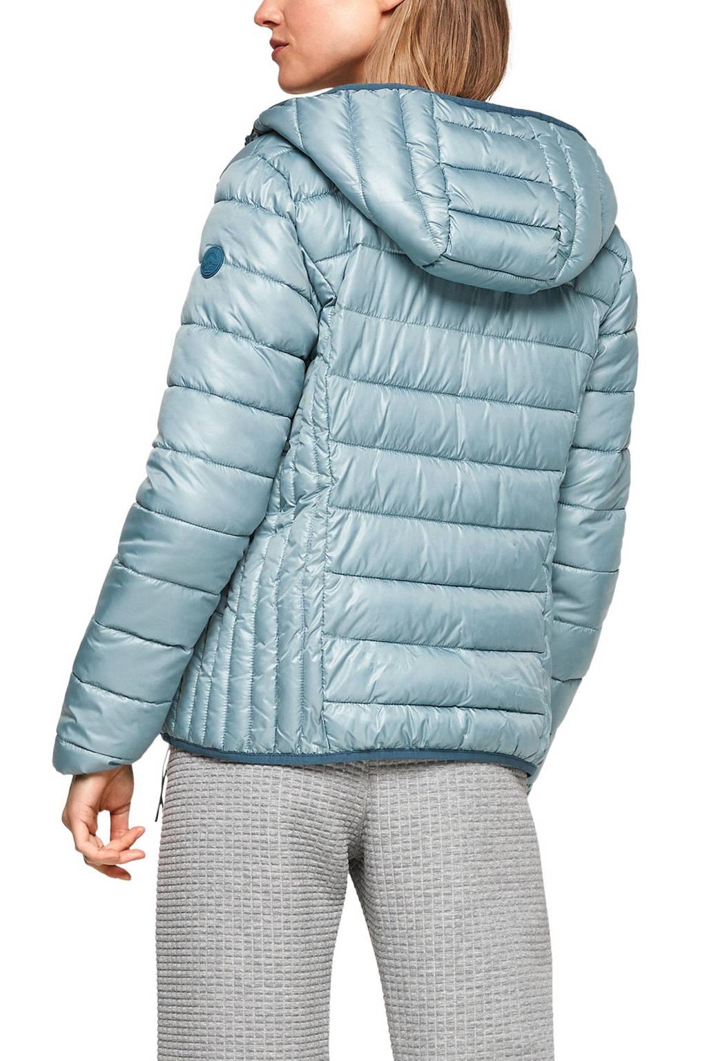 Q/S designed by gewatteerde jas lichtblauw, Lichtblauw
