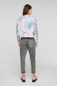 Q/S designed by tie-dye sweater wit/lichtblauw/roze, Wit/lichtblauw/roze