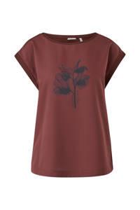 s.Oliver BLACK LABEL T-shirt met printopdruk donkerrood, Donkerrood