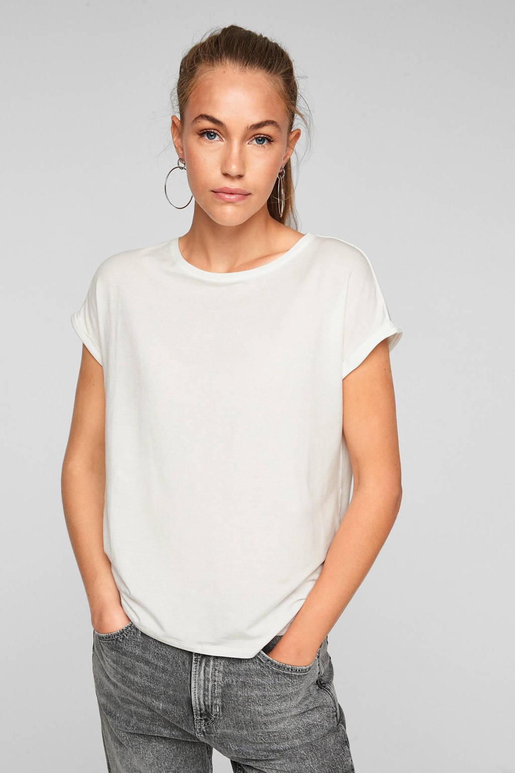 Q/S designed by loose fit t-shirt wit, Wit