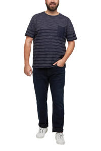 s.Oliver Big Size gestreept regular fit T-shirt Plus Size marine, Marine