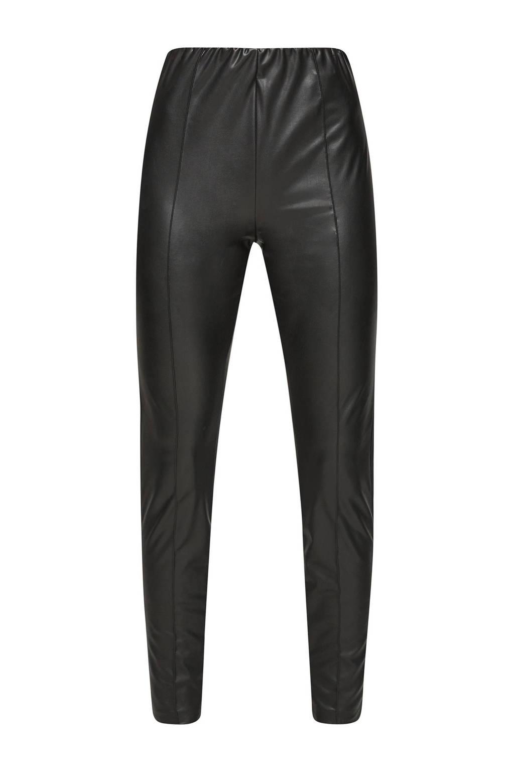 Q/S designed by imitatieleren legging zwart, Zwart