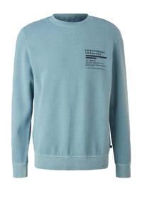 Q/S designed by sweater met all over print lichtblauw, Lichtblauw