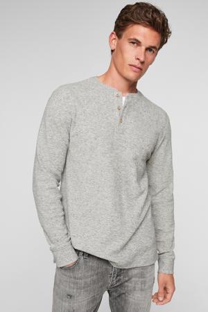 regular fit longsleeve grijs