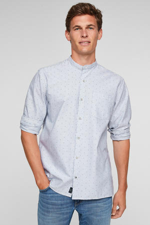 regular fit overhemd met all over print wit