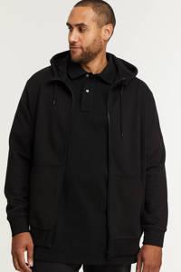 s.Oliver Big Size sweatvest Plus Size zwart, Zwart