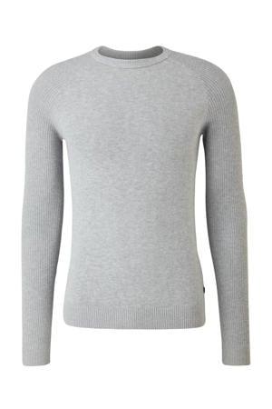 fijngebreide trui grijs