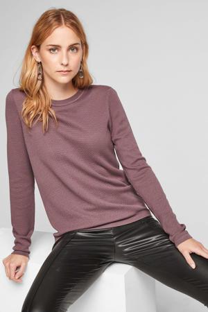 trui met textuur paars