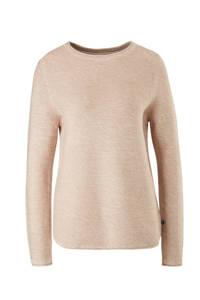 Q/S designed by fijngebreide trui met katoen beige, Beige