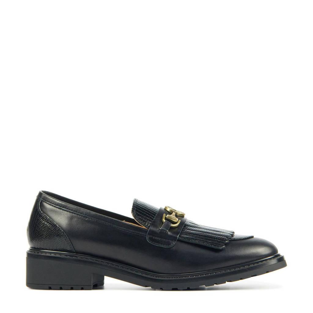 Unisa Ecru  leren loafers zwart, Zwart