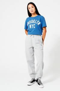 America Today T-shirt met tekst blauw, Blauw