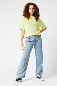 America Today oversized T-shirt Elva geel, Geel