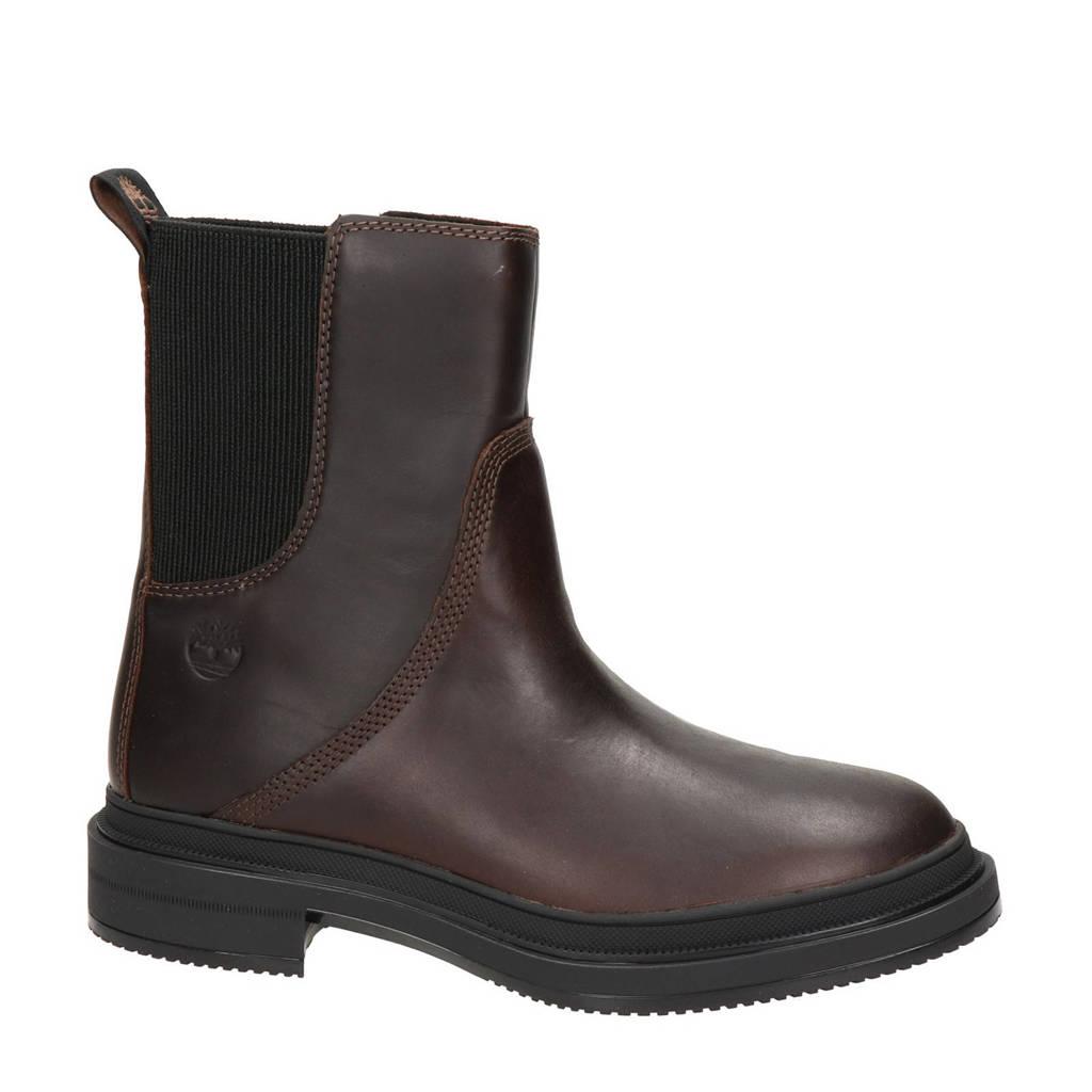 Timberland   leren chelsea boots bruin, Bruin