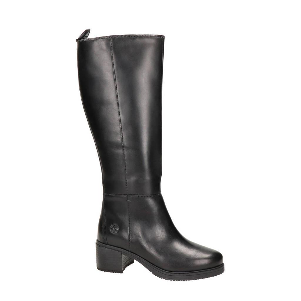 Timberland Dalston Vibe  leren laarzen zwart, Zwart