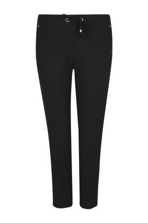slim fit broek met studs zwart
