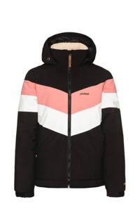 Protest ski-jack Fudge 21 jr zwart/roze/wit, Zwart/roze/wit