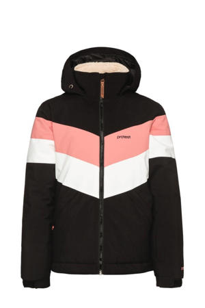 ski-jack Fudge 21 jr zwart/roze/wit