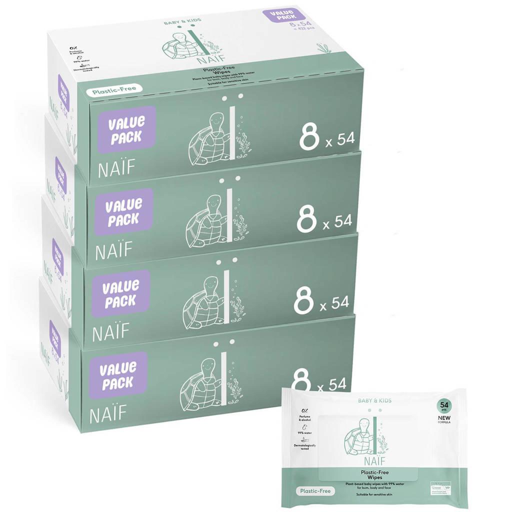 NAÏF plastic vrije baby voordeelbox billendoekjes - 32 stuks