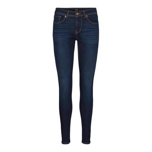 VERO MODA slim fit jeans VMLUX met biologisch katoen dark blue denim