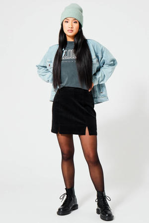 corduroy rok zwart
