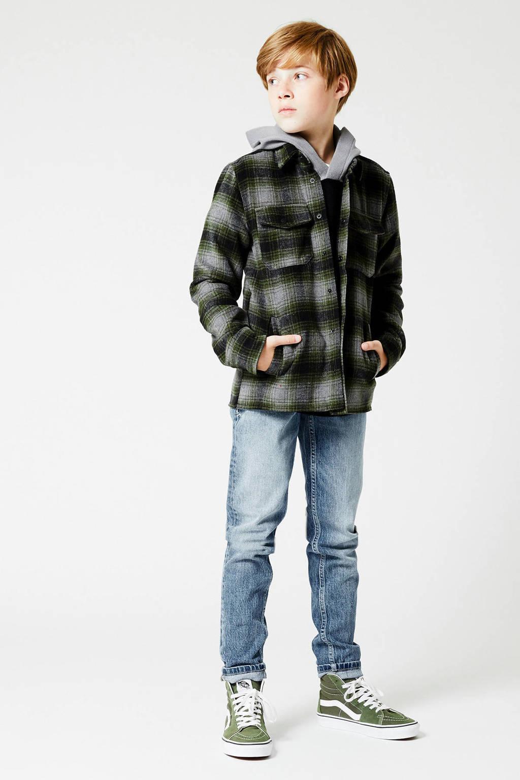 America Today Junior geruit overhemd Holt zwart/donkergroen, Zwart/donkergroen