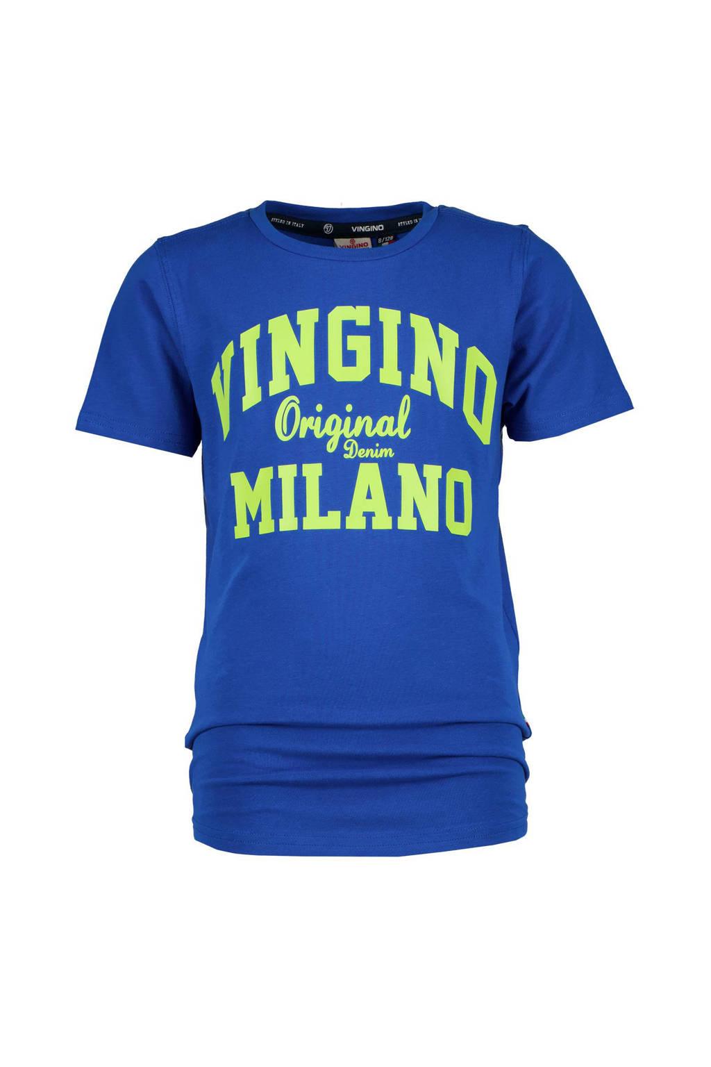 Vingino Essentials T-shirt met logo helderblauw