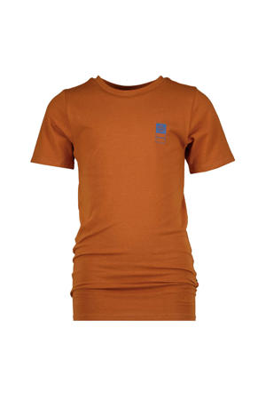 basic T-shirt roestbruin