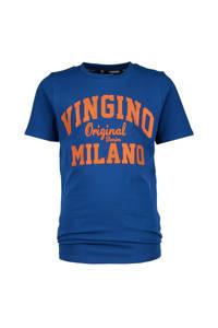 Vingino Essentials T-shirt met logo hardblauw, Hardblauw