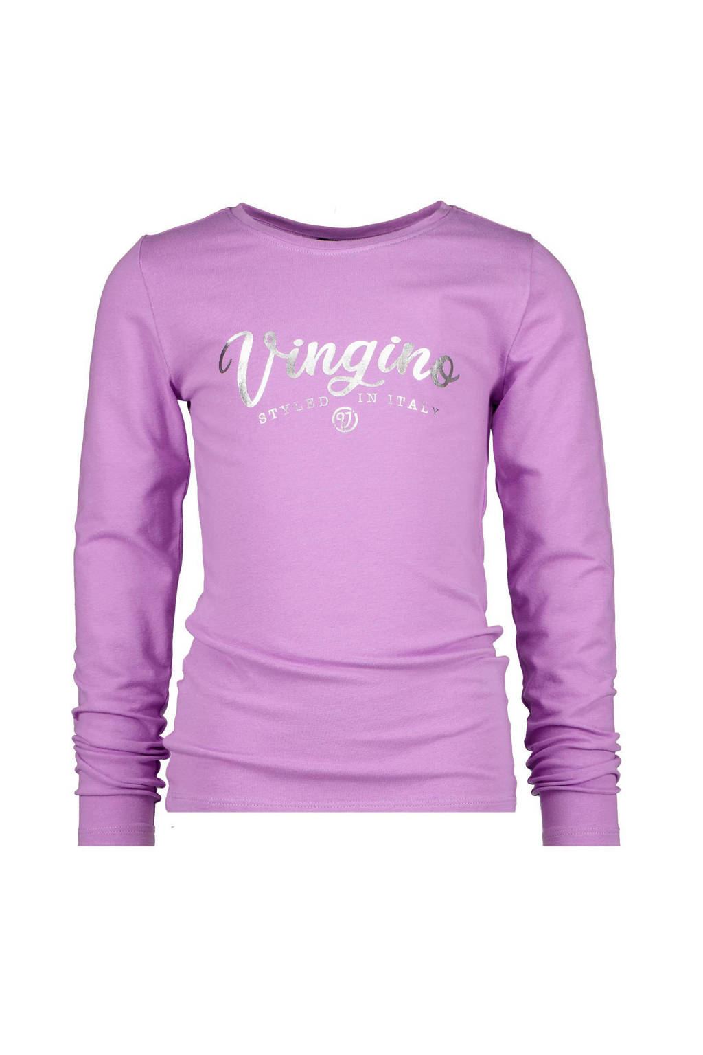 Vingino Essentials longsleeve met logo lila, Lila