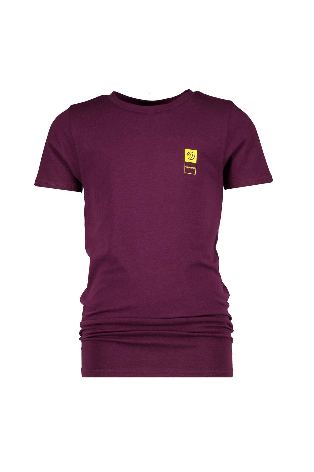 Vingino Essentials basic T-shirt roodpaars, Roodpaars