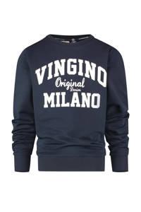 Vingino Essentials sweater met logo donkerblauw, Donkerblauw